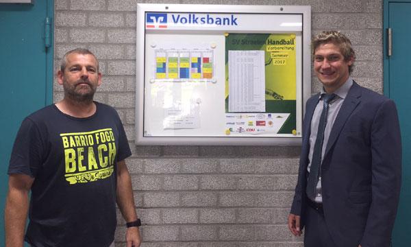 Neuer Schaukasten für den SV Straelen