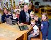 St. Quirinus-Kindergarten mit neuen Laptops