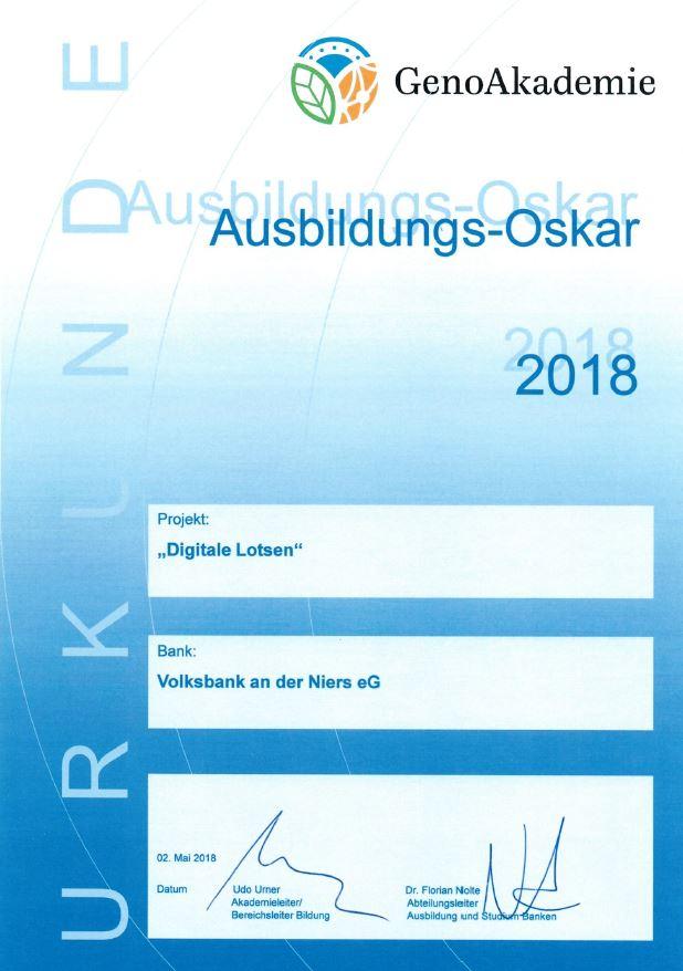 Ausbildungs-Oskar 2018